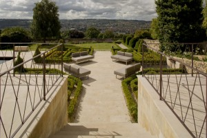 contemporary classic garden design bath