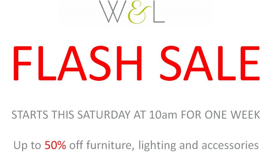 FLASH SALE STARTS TOMORROW!